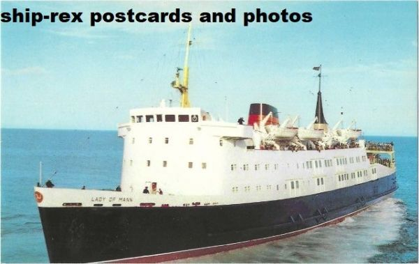 LADY OF MANN (1976, Isle Of Man SP) postcard (d1)
